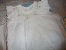 nwt Remember Nguyen white smocked angel dress bloomer girl newborn preemie  h