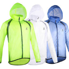Fashion Mens Outdoor Cycling Anti-UV Hooded Jackets Quick Dry Windproof Raincoat