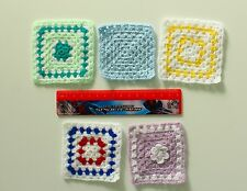 12th scale Dolls House Hand-made Crochet Baby Blanket (4 colour options)
