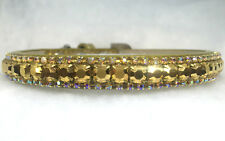 Sugarlicious Pets™  ~GOLDEN RICHES~ Rhinestone Dog Pet or Cat Safety Collar USA