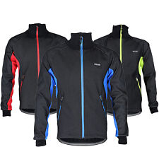 New Mens Fleece Lined Bicycle Cycling Jersey Outdoor Waterproof Windproof Jacket