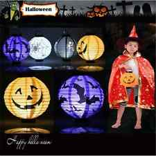 LED Paper Lantern Pumpkin Bat Spider Hanging Light Lamp Halloween Party Decor KD