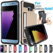 Armor Card Pocket Holder ShockProof Case Cover For Samsung Galaxy Note 7 US Ship