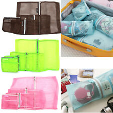 4PCS Portable Clothes Storage Bags Packing Cube Travel Luggage Organizer Pouch