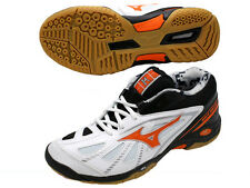 Mizuno JAPAN Badminton Shoes Wave Smash MID 71GA1665 Whie Black Orange