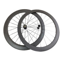 Ultra Light 50mm+60mm Clincher Carbon Wheels Bicycle Cycling Road Bike Wheelset