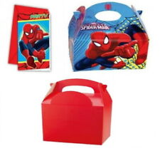 SPIDERMAN TABLEWARE - / MASKS / PARTY INVITATIONS / PARTY MEAL BOXES