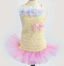 Dog Clothes S, M, L Pink or Blue Dress Couture Tutu Skirt Small Dog Female New