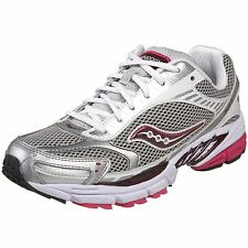 Saucony Girls Progrid Ride 2 Running Shoes in Silver/Pink/Berry