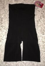 SPANX Slim Cognito BLACK High Waist Mid Thigh Control Body Suit Womens 1X 2X 3X
