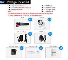 8CH 720P HD NVR 1MP Video Home Security IP Camera System POE Kit CCTV Network 1T
