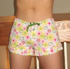 NWT Sanrio Hello Kitty PJ drawstring shorts with ruffles <L, 2 colors