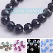 Wholesale 12mm Round Faceted Crystal Jewelry Findings Glass Loose Spacer Beads