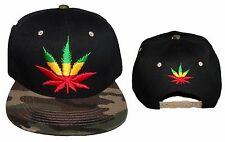 Marijuana Weed Embroidered Baseball Caps Hats 1Pc or 6Pc Lot   (E75050w27#)