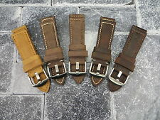 22mm Leather Strap Brown Assolutamente Tang Buckle Watch Band PANERAI 22 x1 V5