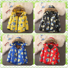 Kids Boys Girls Hoodies Minions Me Zipper Coat winter Cartoon Despicable Clothes