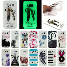 New Clear Glow Soft TPU Rubber Gel Silicone Case Cover For iPhone Samsung Galaxy