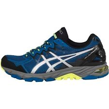 Asics Mens Gel Fuji Trabuco 4 Stability Trail Running Shoes - Blue/Silver/Yellow