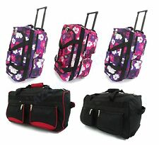 Large Lightweight Luggage Wheeled Holdall Trolley Suitcase Case Duffle Bag
