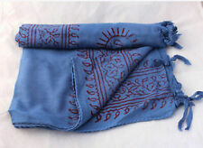 Medium Om Printed Prayer Scarves with Fringes-High Quality Cotton Prayer Scarves