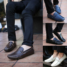 Men Spring Autumn Comfortable Faux Leather Slip-On Flat Casual Shoes Classy