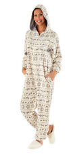 i-Smalls Women's Winter Fairisle Hooded Onsie All in One