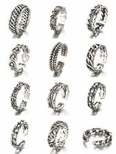 Tibet Silver Plated Rings Adjustable Band Heart Link Men/Women Fashion Jewelry