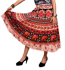 Apparels India Women's Cotton Long Skirt Bohemian Gypsy Hippie USA (Free Size)