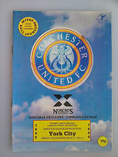 13/10/1989 Colchester Vs York City Football Match Programme