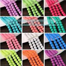 Hot 4/6/8/10mm Round Faceted Crystal Jewelry Findings Glass Loose Spacer Beads