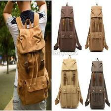 Unisex Vintage Canvas Backpack Travel Hiking Rucksack School Laptop Shoulder Bag