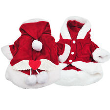 Dog Costumes Christmas Angel Wing Dog Coat Santa Suit - Red(M) DM