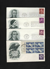 1954 Special Delivery FDC envelope, plus three more 1955 FDC envelopes * stamps