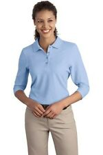 L562 Port Authority® - Ladies Silk Touch™ 3/4-Sleeve Polo