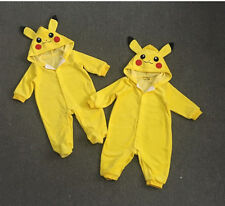 Pokemon Go Infant Toddler Baby Boy Girl Pikachu Outfit Jumpsuit Rompers Playsuit
