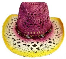 Hats  Cowboys - Cowgirls Rodeo Western Straw Hat 1Pc   (ECOWBG36#)