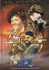AUTOGRAPHED DOCTOR WHO PRINT - TOM BAKER & LOUISE JAMESON