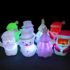 7 Color Change LED  Santa Claus Snowman Xmas Tree Christmas Night Light Lamp