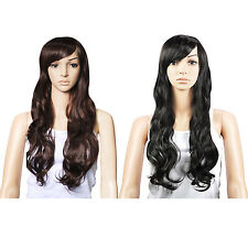 Top Quality Synthetic Hair Gorgeous Ladies Long Wavy Curly Full Wig nDM