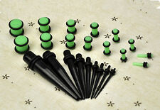23 Pcs Stretchers Expander Set Gauges 14G-00G 1.6mm-10mm Ear Taper+ PLUG Kit