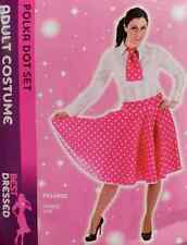 50'S STYLE POLKA DOT DRESS FANCY DRESS HALLOWEEN COSTUME PARTY ONE SIZE GREASE