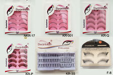 Long Black Handmade 1 set Makeup Fake Eyelashes False Lashes UK seller