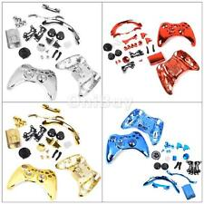 Metal Plated Full Housing Shell Case Buttons Kits for Xbox 360 Game Controller