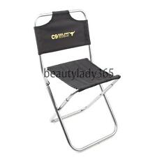 Fishing Camping Hiking Portable Black Folding Chair Small Foldable Garden Stool