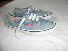 Ladies Blue Denim Vans Trainers *Size 4.5 UK*