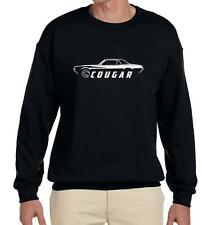1967 1968 Mercury Cougar Coupe Classic Outline Design Sweatshirt NEW