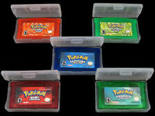 5PCS Pokemon Game CARDS Sapphire Ruby Emerald FireRed LeafGreen For GBM/GBA/NDS