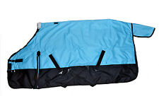 600D Waterproof Turnout MEDIUM WEIGHT HORSE WINTER BLANKET-TURQUOISE