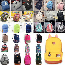 Womens Canvas Casual Travel Bag Satchel Backpack Rucksack Shoulder School Bags