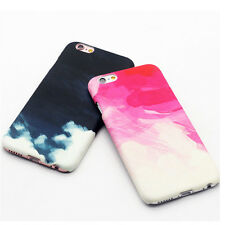 New Glossy watercolour Pattern Hard plastic Case Cover for iPhone 6 6S Plus